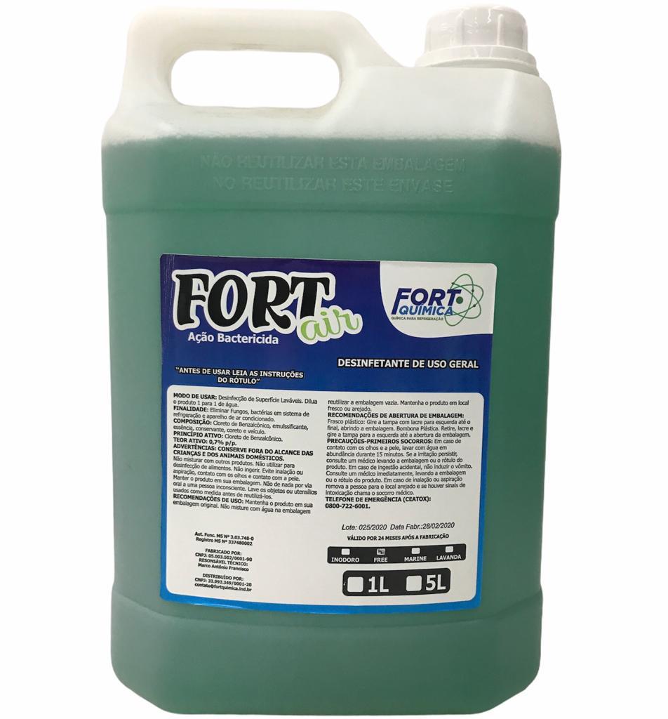 Aroma Bactericida Fort Air Maçã Verde 5L
