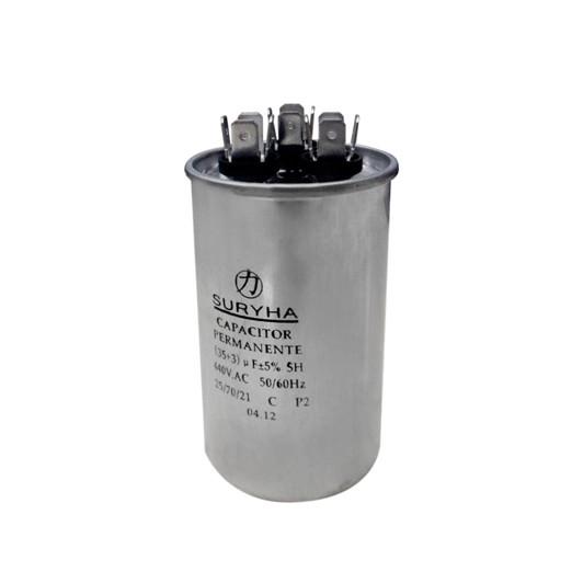 Capacitor Duplo 30+1,5 MFD 440VAC Suryha