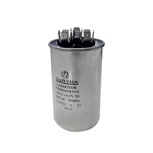 Capacitor Permanente 25+5 MFD 380VAC Suryha