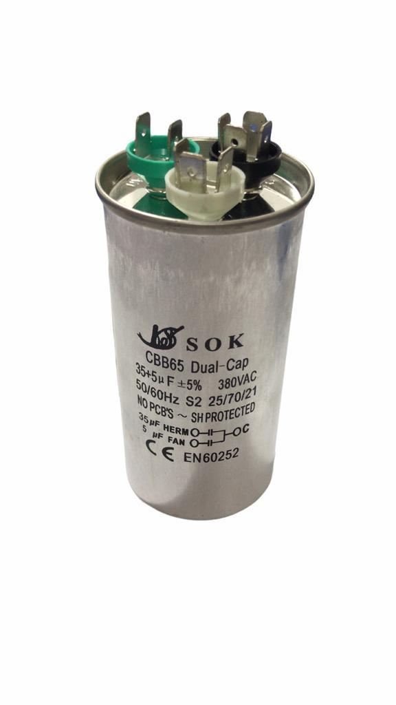 Capacitor Permanente 35+5 MFD 380VAC