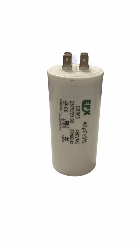 Capacitor Permanente 40 MFD 440V 2 Polos