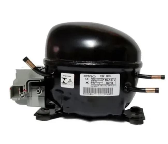 Compressor 1/4 HP R134A 220V Embraco EM2U80HLP
