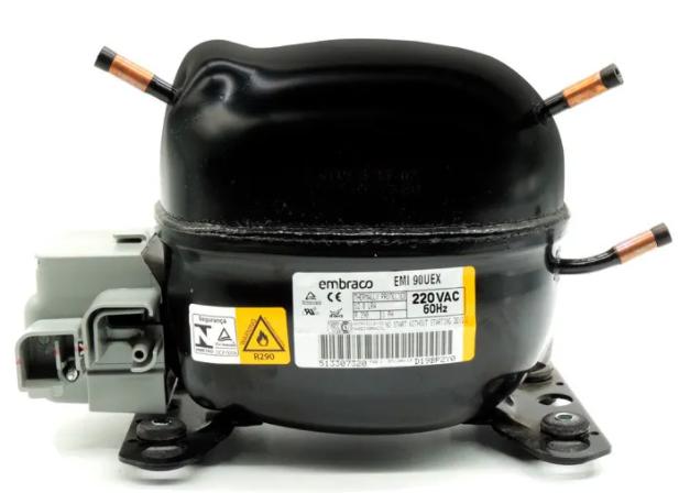 Compressor 1/4 HP R290 EMI90UEX 220V Embraco