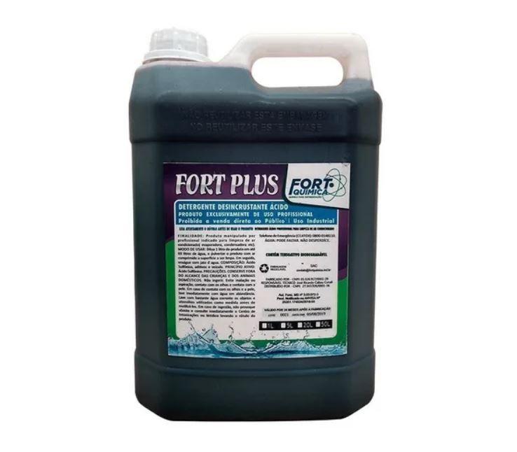 Detergente Desincrustante Ácido Fort Plus Galão 5 L