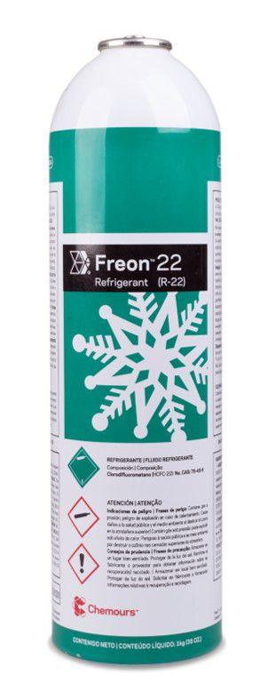 Gás R22 Freon Chemours 1Kg Lata