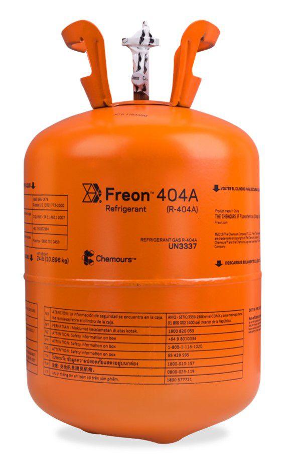 Fluido Refrigerante Freon R404A 10,89Kg