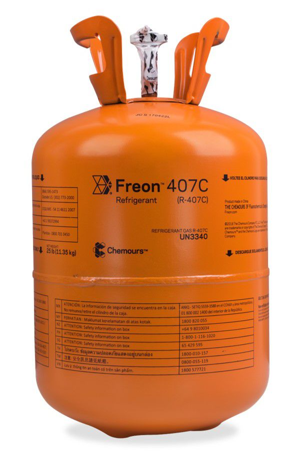 Gás R407C Freon Chemours 11,35Kg