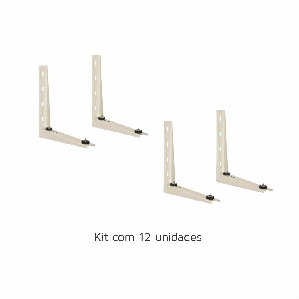 Kit com 12 Suportes para Ar Condicionado Split 450mm