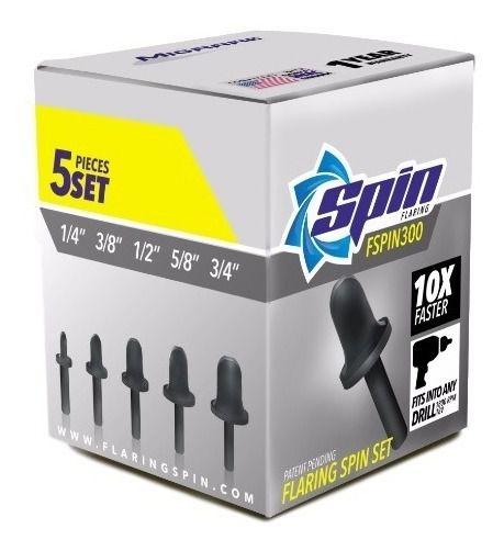 Kit Flangeador Spin F5000 5 Peças 1/4 3/8 1/2 5/8 E 3/4
