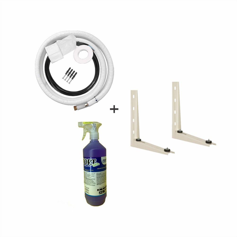 Kit Instalação para Ar Split 3/8 E 5/8 + Suporte 500mm + Aroma