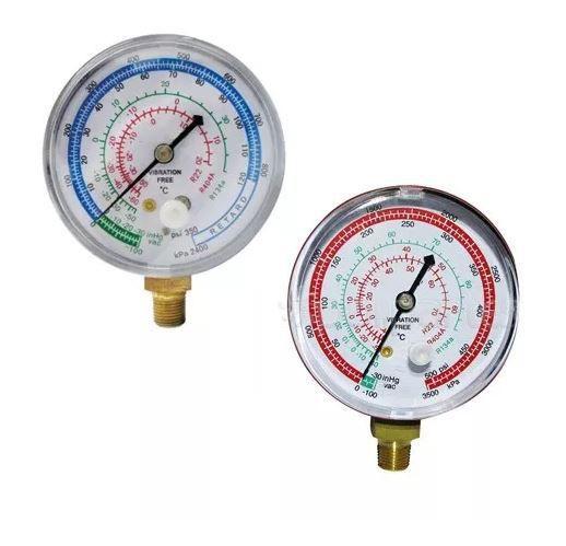 Manômetro de Baixa Vulkan R12/22/134A/404A
