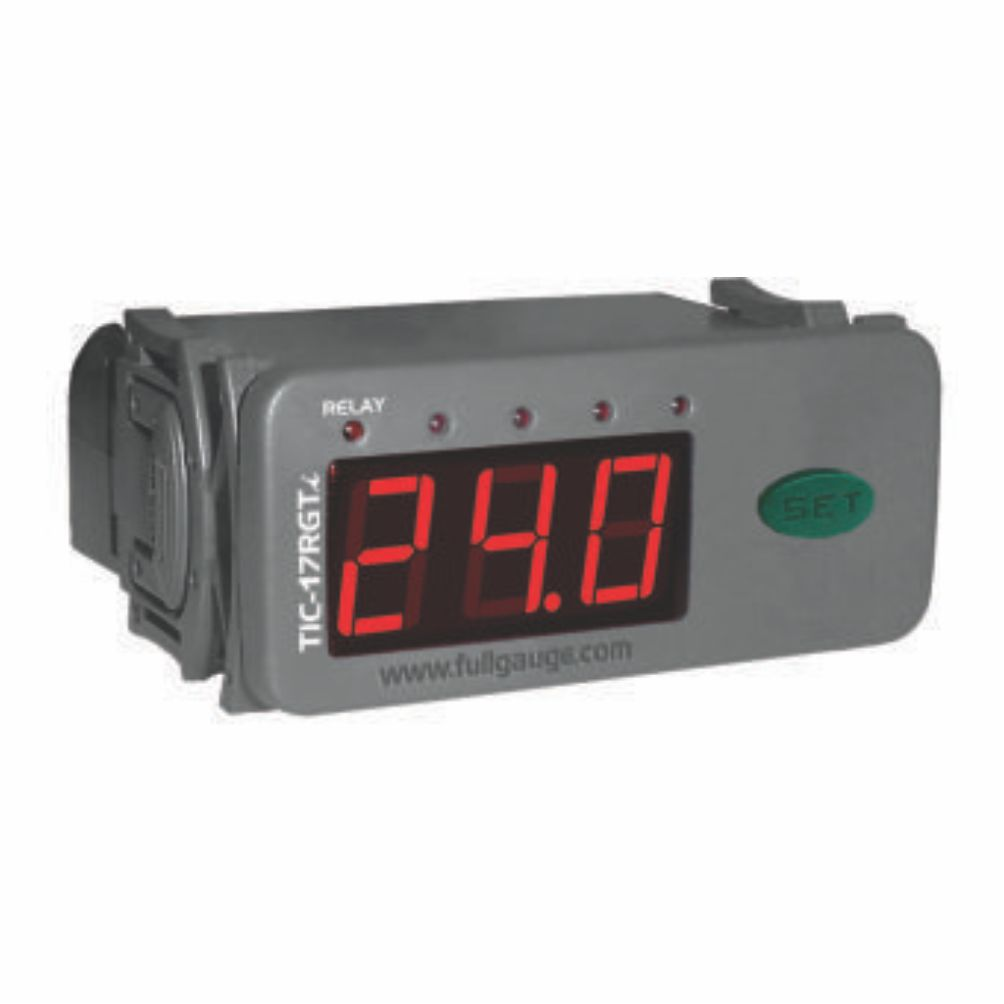Controlador digital e termostato Full Gauge TIC17RGTIL TERM/TRM 12V/24V
