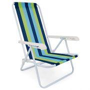 Cadeira de Aço Mor Reclinável 4 Posições Cores Variadas