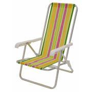 Cadeira de Alumínio Mor Reclinável 4 Posições Cores Variadas