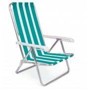 Cadeira de Alumínio Mor Reclinável 8 Posições Cores Variadas