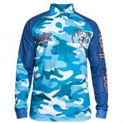 Camiseta Clonker Dry Fit Camuflado Azul