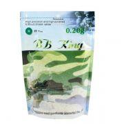 Esfera BBs Airsoft Munição Plástica BB King 0.20g 4000un