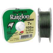 Linha Monofilamento Super Raiglon Tour 0,405mm 41,40lb 18,77kg 100m