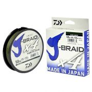 Linha Multifilamento J-Braid X4U Daiwa 0,25mm 30lb Dark Green 135m