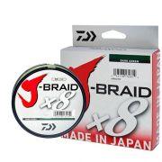 Linha Multifilamento J-Braid x8 Daiwa 8 Fios Trançados 0,43mm 80lb 300m