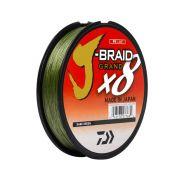 Linha Multifilamento J-Braid X8 Grand Daiwa 0,19mm 15lb Dark Green 135m