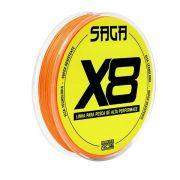 Linha Multifilamento Marine Sports Saga X8 150m Laranja