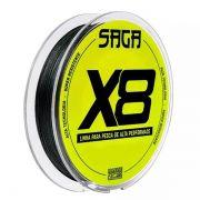 Linha Multifilamento Marine Sports Saga X8 150m Verde