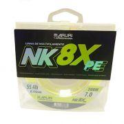 Linha Multifilamento Maruri By Nelson Nakamura 8X 0,40mm 50,5lb Amarela 200m