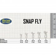 Snap Fly Mod 2 c/Girador 20lb 5un Glico' Snap