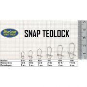 Snap Teolock com Girador Glico'Snap Mod. 650 50lb 5pç