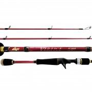 "Vara Albatroz Fishing Vertice II 6'3"" (1,90m) 10-20 Lbs Carretilha"