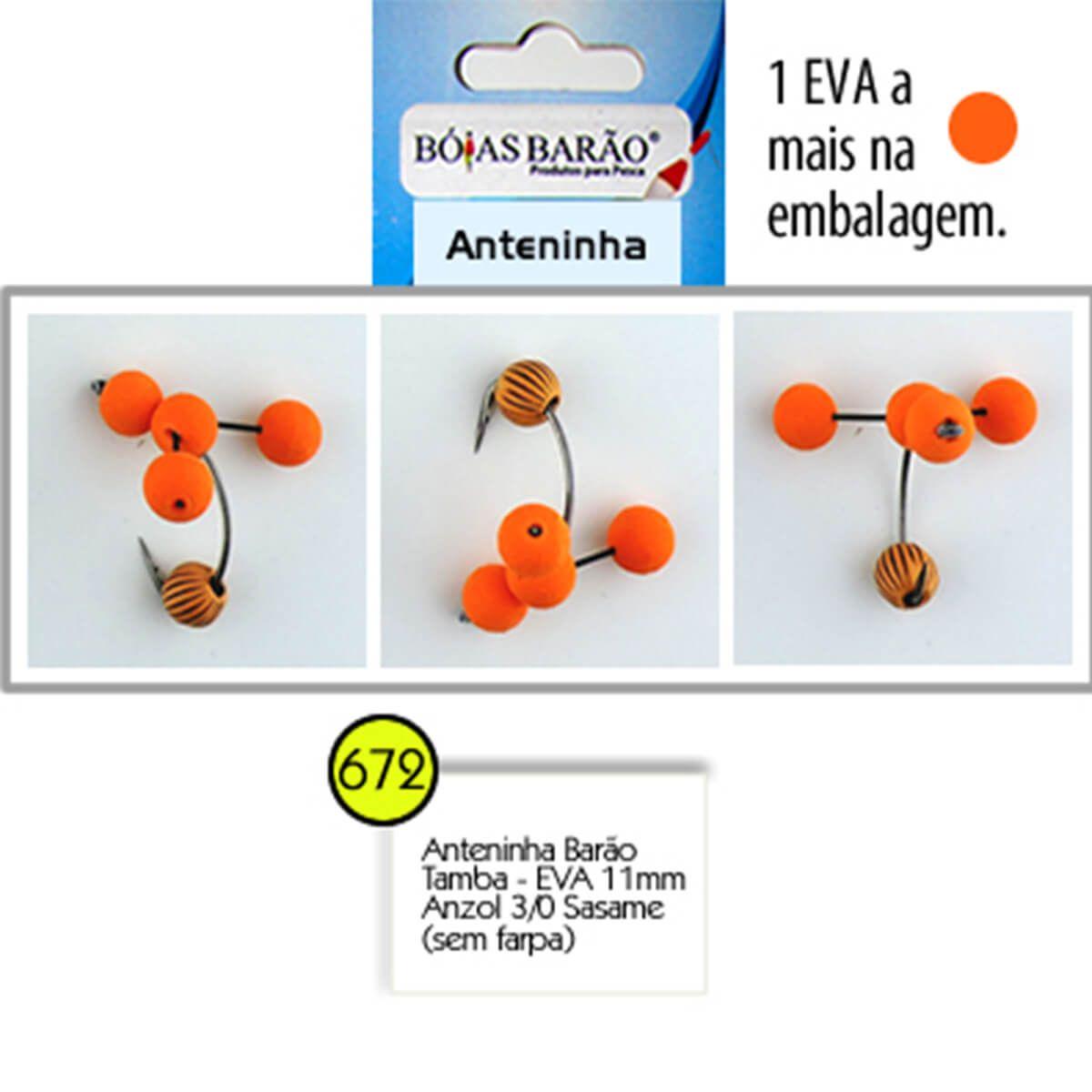 Anteninha Boias Barão Tamba EVA com Miçanga Anzol Sasame 3/0 - Nº 672