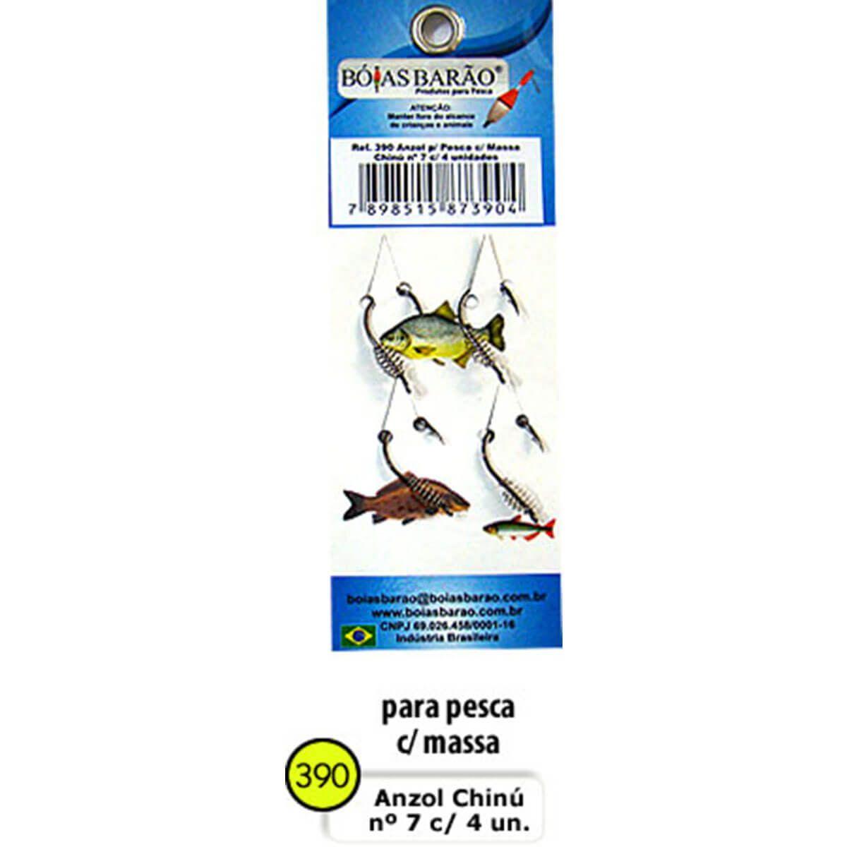 Anzol Maruseigo C/Mola para uso de massa Boias Barão 4 un