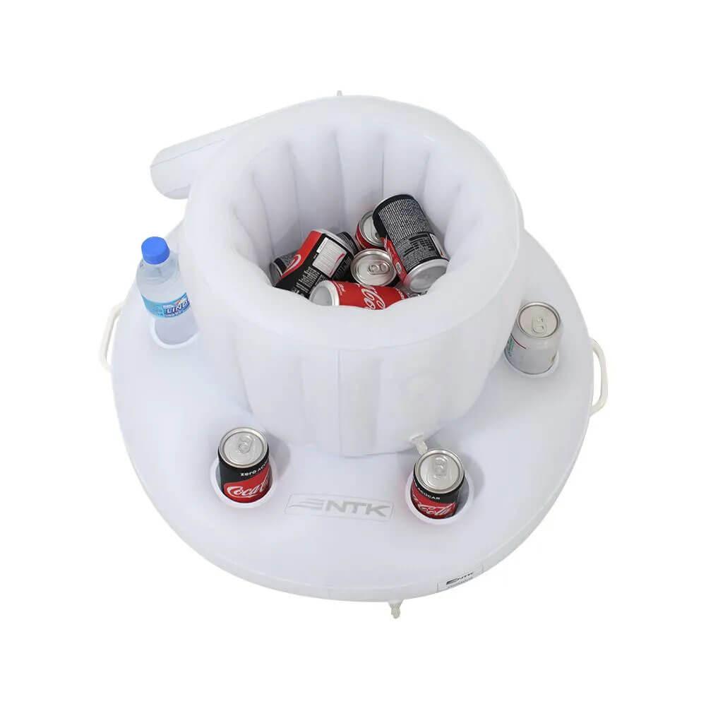 Bar Nautika com cooler inflável flutuante Kool