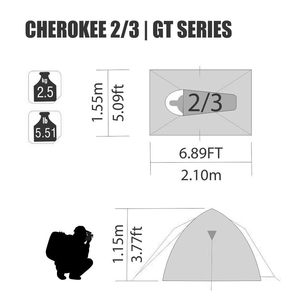 Barraca Cherokee GT 2/3 Pessoas Nautika