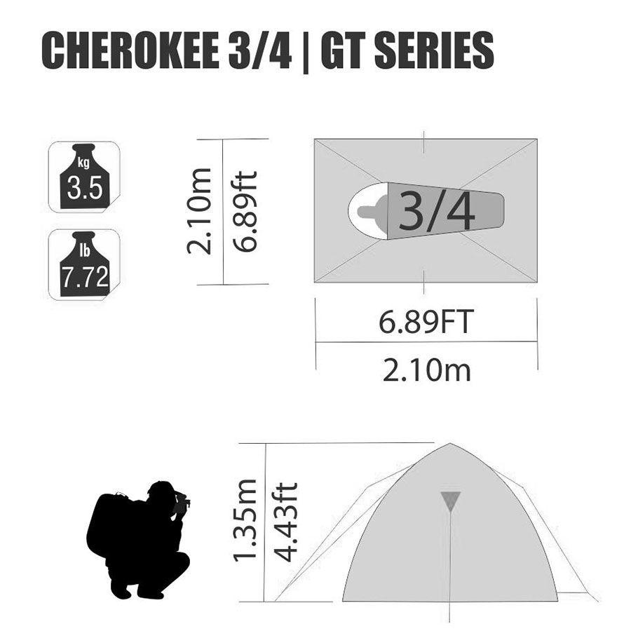 Barraca Cherokee GT 3/4 Pessoas Nautika + Colchão Inflável Mor Casal