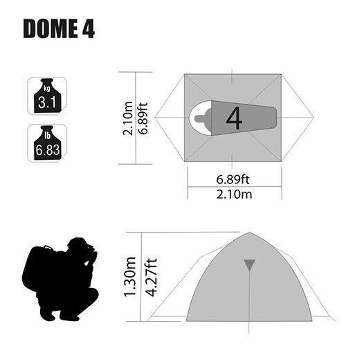Barraca Dome 4 Pessoas Nautika