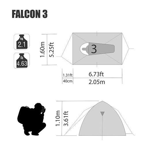 Barraca Falcon 3 Pessoas Nautika