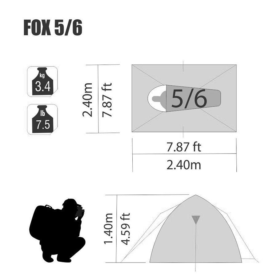 Barraca Fox 5/6 Pessoas Nautika
