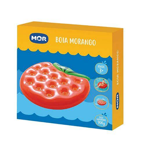 Boia Inflável Mor Formato de Morango