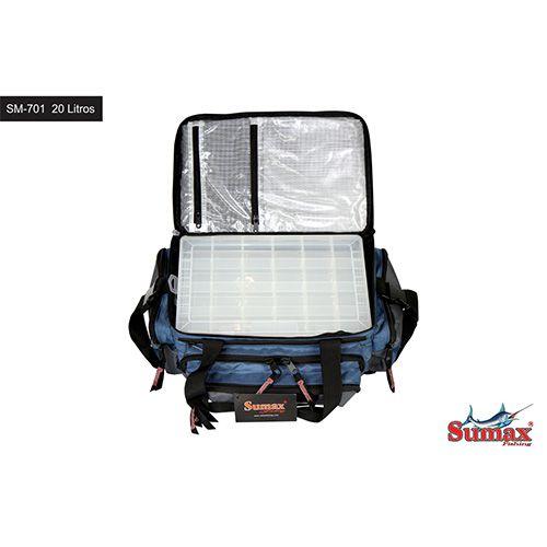 Bolsa De Pesca Sm-701 Sumax Com 2 Caixas Para Iscas