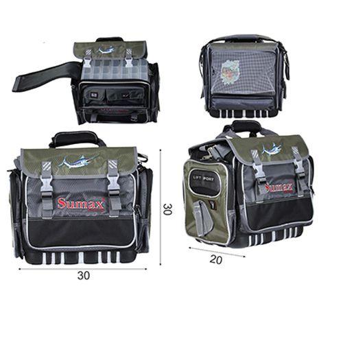 Bolsa Impermeável Sm-905-7 Sumax Com 7 Caixas Para Iscas