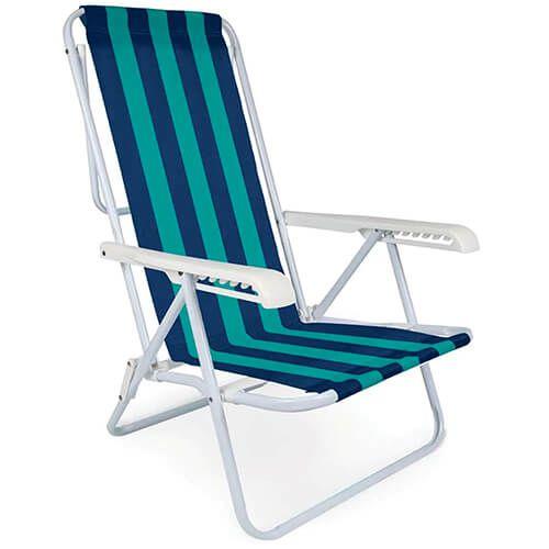 Cadeira de Aço Mor Reclinável 8 Posições Cores Variadas