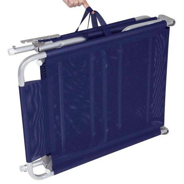 Cadeira Espreguiçadeira Alumínio Azul Mor