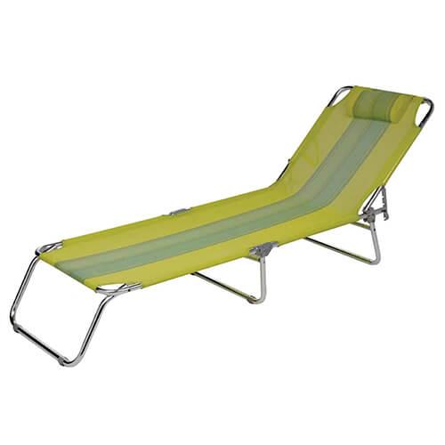 Cadeira Espreguiçadeira Mor Verde Alumínio