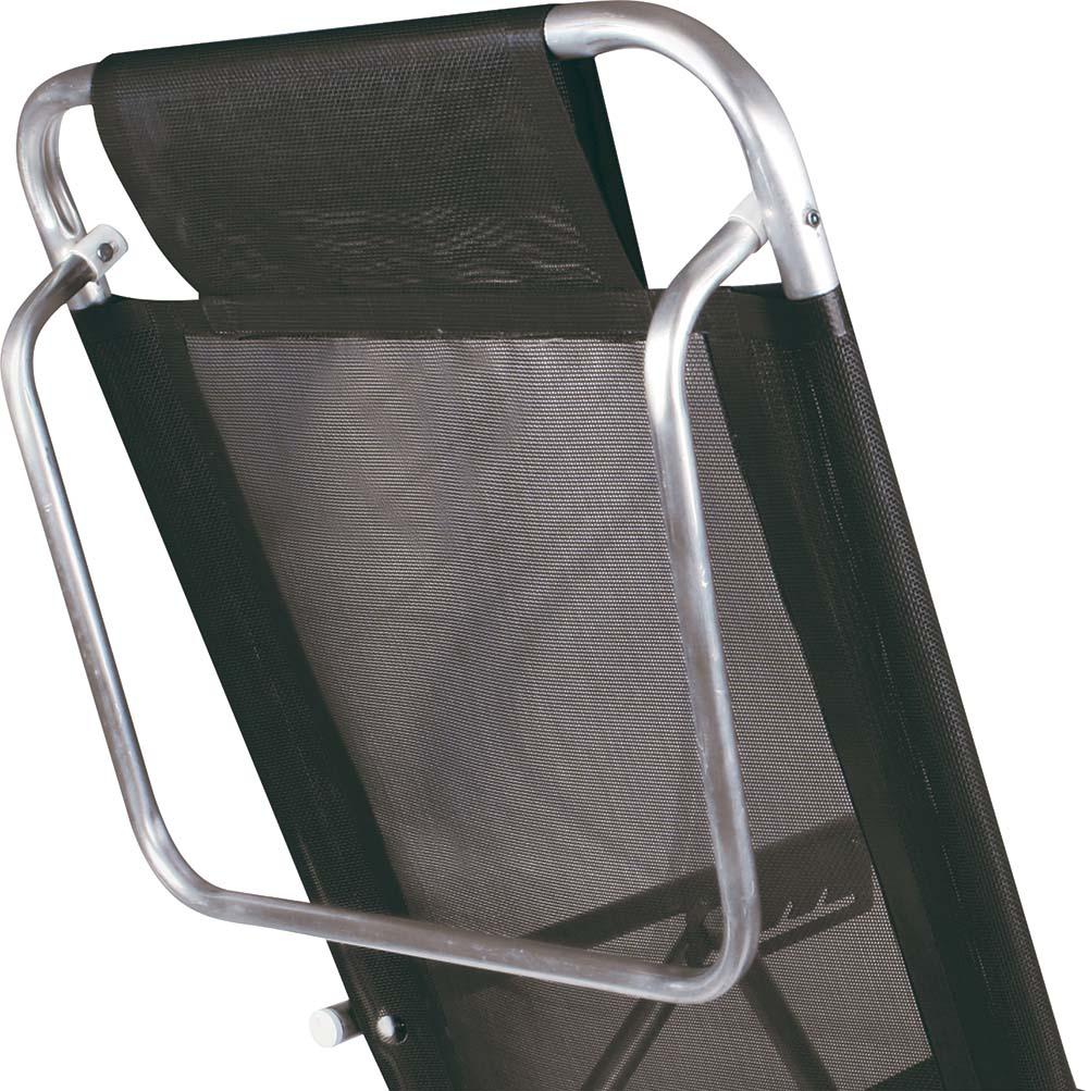 Cadeira Reclinável Alumínio 5 Posições Preta