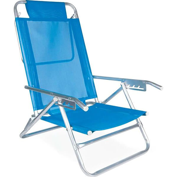Cadeira Reclinável Alumínio 5 Posições Sortida