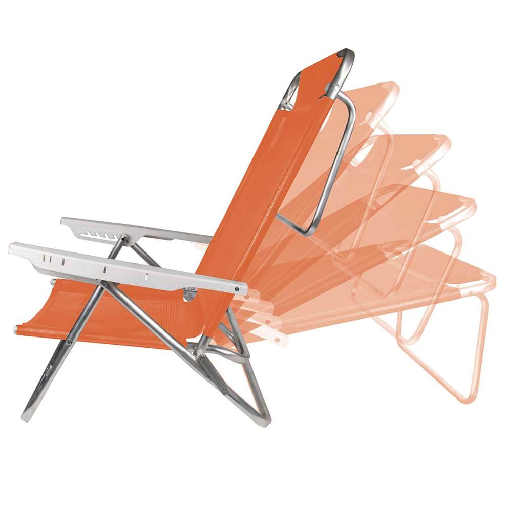 Cadeira Reclinável Summer Fashion COR SORTIDA