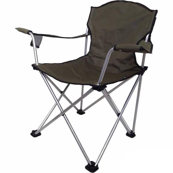 Cadeira Retrátil com Descanso de Braço Jogá para 120kg Verde