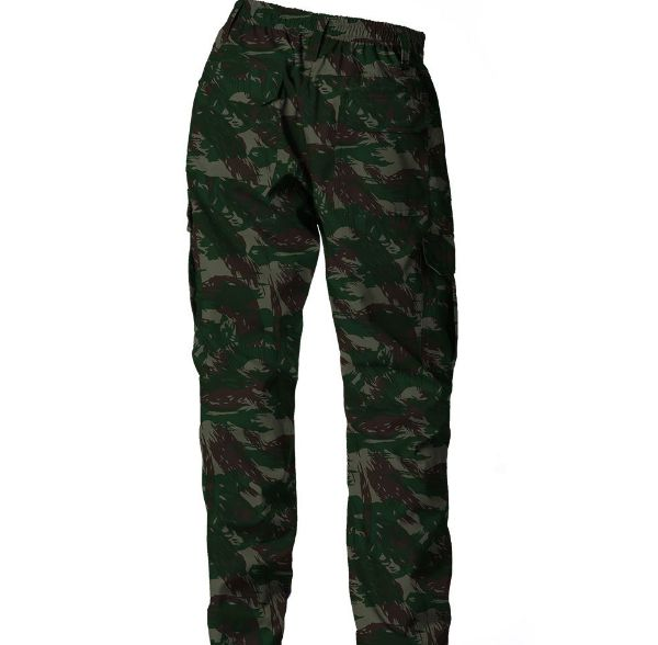 Calça de Brim Real Hunter Fluor Carbon Camuflado Exercito